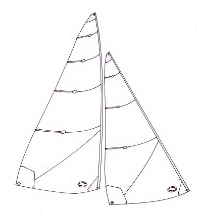 Ten Rater lightweight sails -  2000 to 2200 mm mainsail luff
