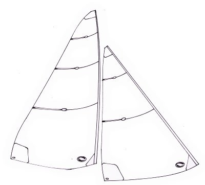 Ten Rater panelled sails - 1200 to 2000mm mainsail luff