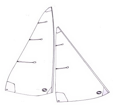 Ten Rater standard sails - 1000 to 1300mm mainsail luff