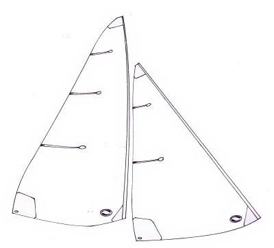 6 Metre standard sails