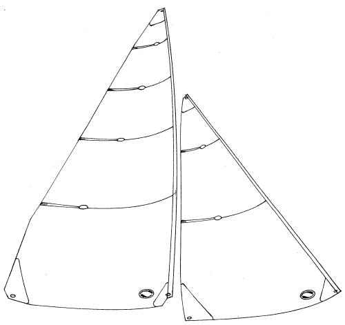 6 Metre panelled sails