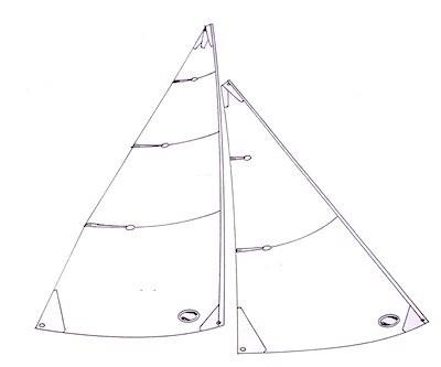 IOM No 3 sails