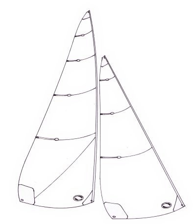 Marblehead lightweight sails -  1900 to 2150 mm luff