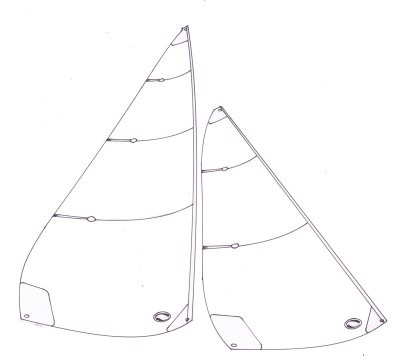 Marblehead panelled sails - 1000 to 1900mm mainsail luff
