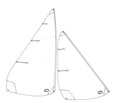 Marblehead standard sails - 1000 to 1250mm mainsail luff
