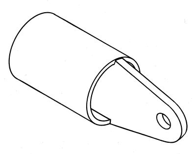 Boom end - 8 mm Ø